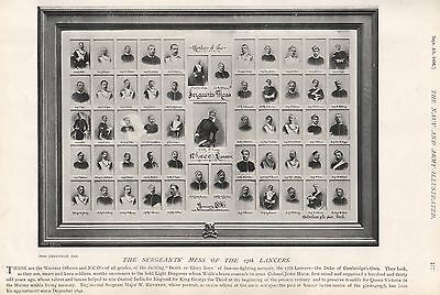 1896 MILITARY PRINT : THE SERGEANT'S MESS OF THE 17th LANCERS