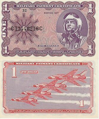 Military Payment Certificate,1 Dollar (1969-70) Uncirculated Condition Cat#M79-A
