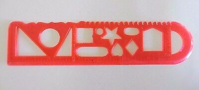 Bank of New South Wales - Plastic Shapes Stencil and Ruler - 1970s