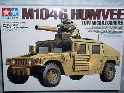 Tamiya 1/35 US M1046 Humvee TOW Missile Carrier Model Tank kit #35267