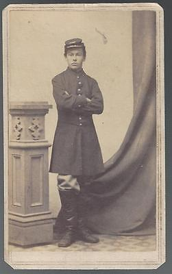 Civil War CDV Union Private Edwin P Buswell 13th Massachusetts  WIA Gettysburg