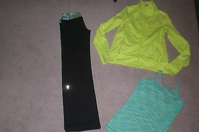 Lot of Girls Ivivva by Lululemon Pants, Jacket and Tank Top sz 12