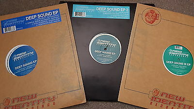 """V/a Deep Sound Eps 1 - 3 Drum N Bass 12"""" Record Collection Lot D&b New Identity"""