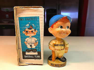 Old Vtg Sports Specialties MILWAUKEE BREWERS Baseball Bobblehead Made In Japan