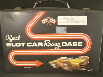 1/32 Scale Official Slot Car Racing Case by Standard Plastics 1960's Carry Case