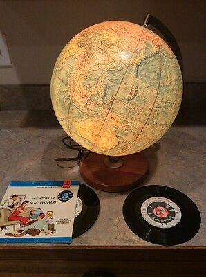 1962 The Story Of Mr. World Deluxe Ed. Vol.1&2 Records & Lighted Full Size Globe