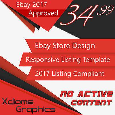 Ebay Store Design & Auction Listing Template Professional Package 2017 Compatibl