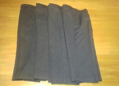 Boys school trousers dark grey age 5 years BNWOT 4 pairs