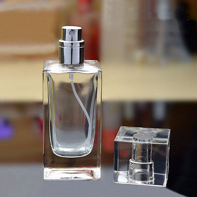 Health Beauty Empty Perfume Bottle Atomizer Rectangles Glass 50ml Spray Bottle