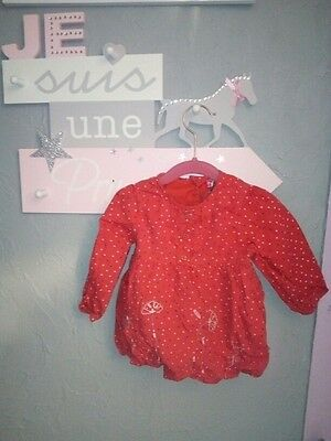 blouse fille rouge orchestra 12.18mois