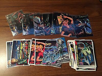 MARS ATTACKS 1994 TOPPS MATRIX PROMO & 1st DAY 34 CARD LOT