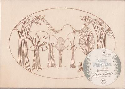 Docrafts Papermania ~ TALES FROM WILLSON WOOD ~ Wooden Postcards (4pk)