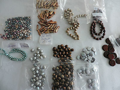 Mixed lot of Assorted Freshwater Pearls  for Jewellery Making