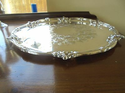 Ornate Silver Plated Salver-Historical Interest.