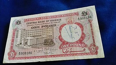 Central Bank of Nigeria £1 note (1960s?)