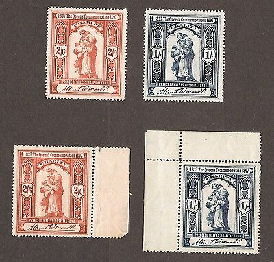 1897 The Queens Commemoration Charity Stamps - Gum & No Gum Varieties Mnh