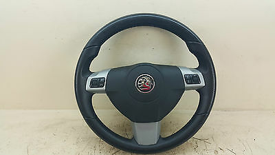 Vauxhall Astra 2010 Mk5 Leather Steering Wheel 13231661 And Airbag