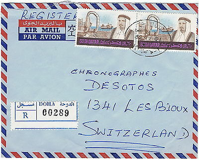 QATAR DOHA 1969 airmail registered cover