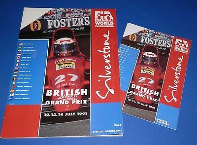 Silverstone - British Grand Prix programme and racecard 1991