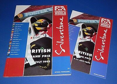 Silverstone - British Grand Prix programme and racecard 1993
