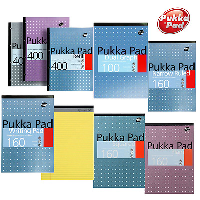 Pukka Pad A4 A5 Refill Pad Ruled, Margin, Squared, Graph, Plain Paper, Legal Pad