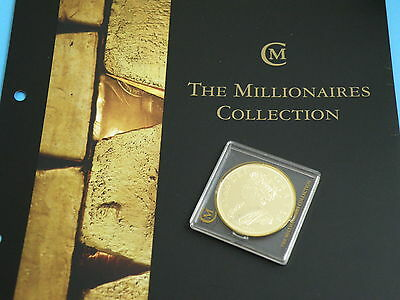 Millionaires Collection - 1703 QUEEN ANNE FIVE GUINEAS - Gold Clad Silver Coin