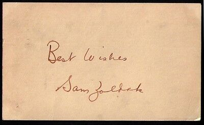 1949 Sam Zoldak Cleveland Indians VINTAGE GOVERNMENT POSTCARD GPC SIGNED D. 1966