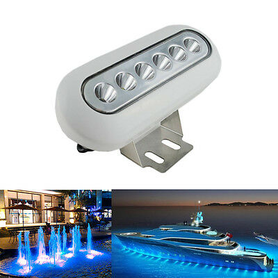12W 12V High Intensity Underwater Yacht Boat Fish Marine LED Lights BLUE SALE