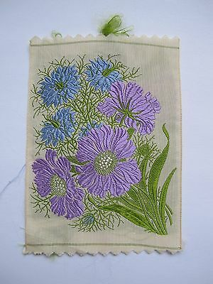 Kensitas Wix Silk Flowers - LOVE-IN-A-MIST & SCABIOUS No 18 1st Series PC size