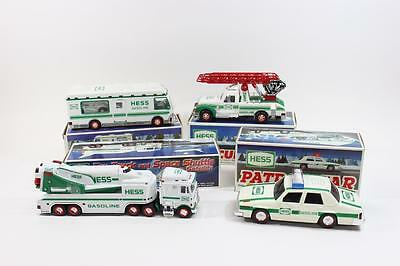 Hess Truck Lot of 4 1993,1994,1998,1999 All NEW in box Rare Vintage Toy Cars