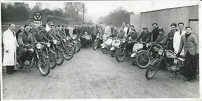 Motor Cycles, Five Candid Photos Of A Motor Cycling Club And Cope's Cycle Shop