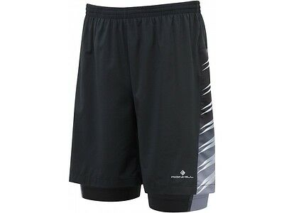 Ronhill Advance Mens 2 In 1 7 Inch Twin Skin Compression Running Shorts S M L Xl
