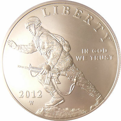 Us 2012 Infantry Soldier Silver Dollar