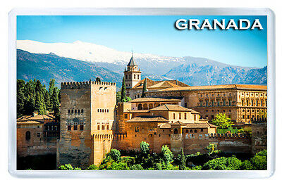 Alhambra Of Granada Spain Fridge Magnet Souvenir Iman Nevera