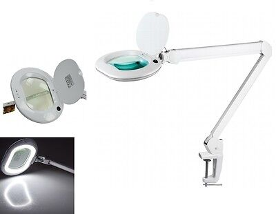 LED Lupenleuchte Lupenlampe 3 Dioptrien Echtglas-Linse Lupe 800lm dimmbar 22120