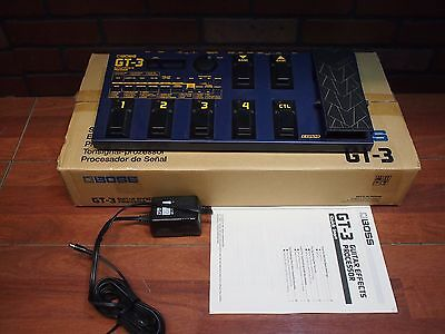 Boss GT-3 Multi-Effects Guitar Processor Pedal In Box Manual Adaptor!  WorldShip