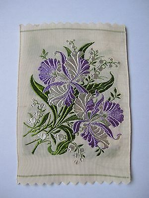 Kensitas Wix Silk Flowers - ORCHID & LILY-of-the-VALLEY No 22 1st Series PC size