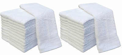 Luxury Hospitality Wash Cloths Face Cloth Flannel White Bath Towel 100% Cotton