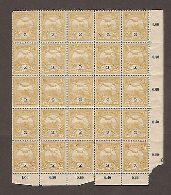 1900 Hungary Turul  25 Block Of Stamps 2 Filler - Mnh O/g