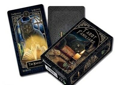 Lisa Parker Tarot Cards By Fournier *tarot Familiars* Cat Wolf Owl New Sealed.