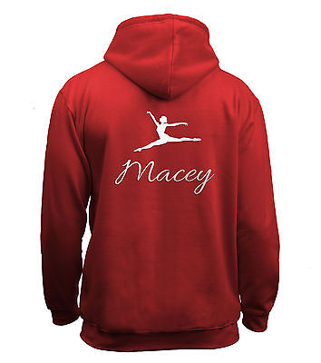 Juko Childrens Personalised Gymnastics Hoodie Girls Gymnast Hoody