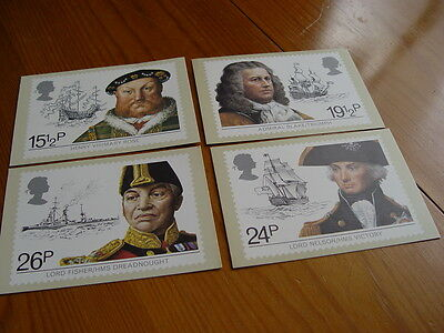 RM005 - 4 Maritime Heritage Postcards - First Day of Issue 1982