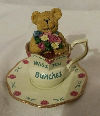 """Collectible 2003 Missy Teabearie """"Miss You Bunches"""" Boyds Figurine #24318"""