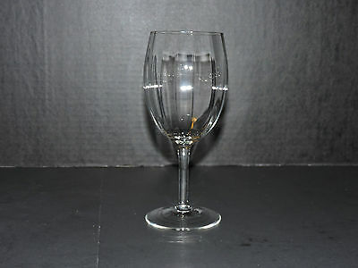 Clear Beveled Glass Water Goblet - 10oz. (Unknown Maker)