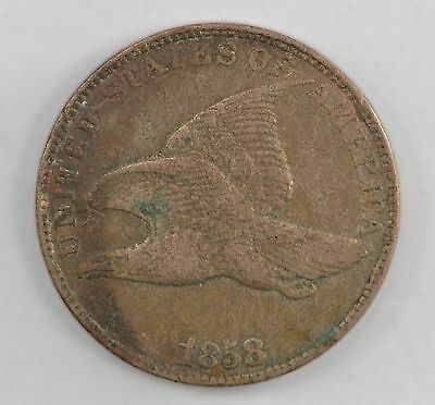 1858 Flying Eagle One Cent *560
