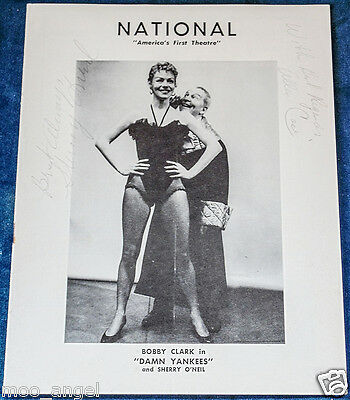 Theatre programme autographed in pencil by Sherry O' Neil and Allen Case 1956