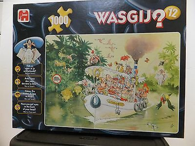 "WASJIG 1000 Piece Puzzle #12 "" The Mouth of the River "" EUC  100% COMPLETE"