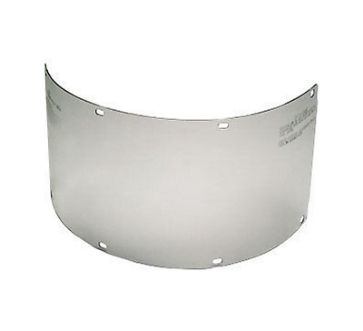 "10 MSA 10017934 Defender Face Shield, Polycarbonate Flat, Clear, 15 1/2"" x 8"""
