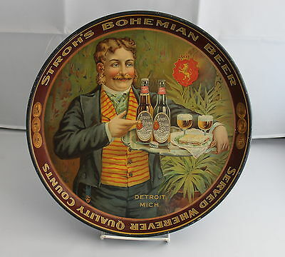 Advertising Tray For Stroh's Bohemian Beer - Detroit, Michigan
