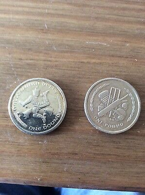 Two isle of man £1 coins